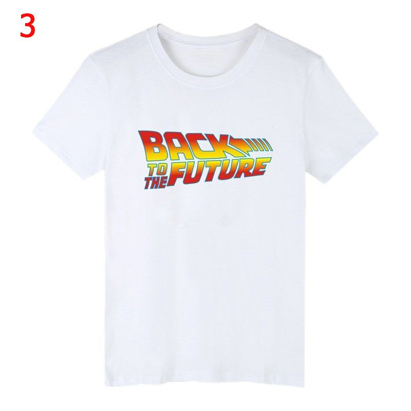 Back To The Future Tshirt Luminous T Shirt camiseta Summer Short Sleeve T Shirts back to future Tee Tops Streetwear T-shirts 4XL 2