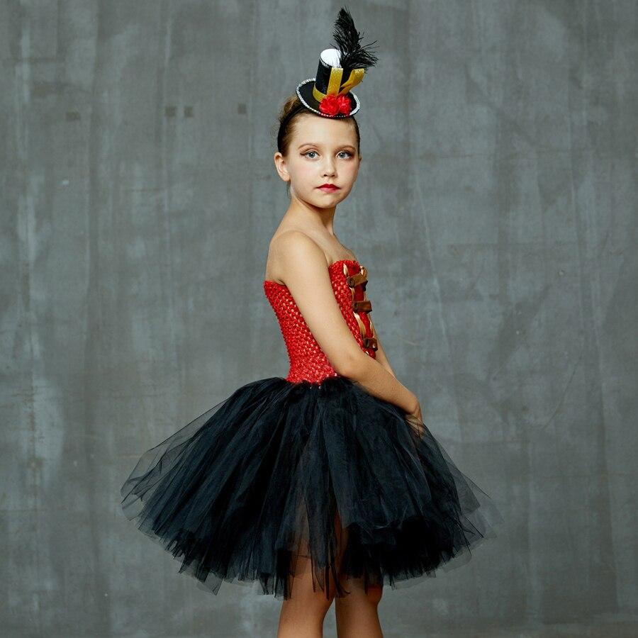 Girls Ringmaster Costume Circus Nutcracker Fancy Tutu Dress Kids Tulle Birthday Party Dress Girl Halloween Dress Up Clothes (7)
