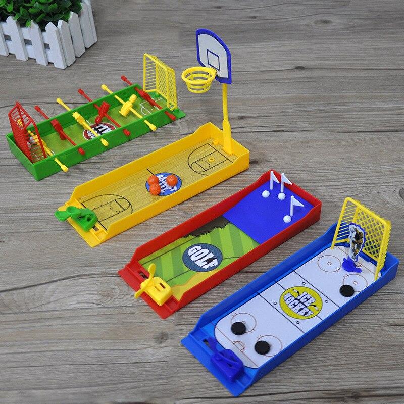 1pcs Desktop di Barretta Tiro Giochi Da Tavolo per Bambini Basket Calcio Golf Colpo Gioco Da Tavolo Per Bambini di Età Giocattolo di Famiglia Regali