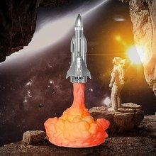 3d печать ракетная лампа 800 мАч usb Перезаряжаемый Космический