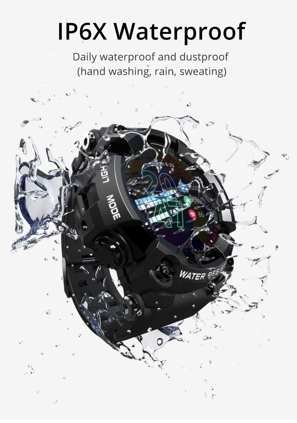 H020affcc249345a694fa95c925a131cfD LOKMAT ATTACK Full Touch Screen Fitness Tracker Smart Watch Men Heart Rate Monitor Blood Pressure Smartwatch For Android iOS