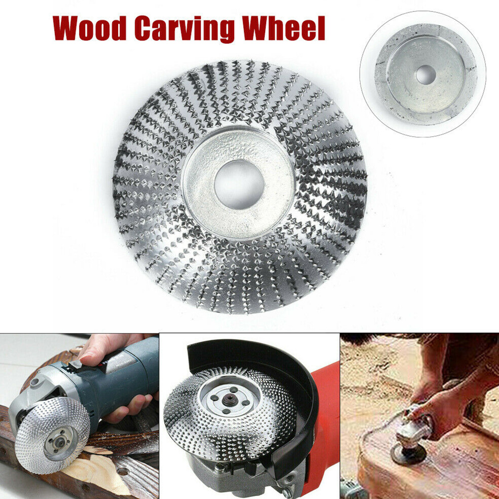 Drtomyl Wood Angle Grinding Wheel Sanding C-arving Rotary Tool Abrasive Disc for Angle Grinder Tungsten Carbide Coating Bore Shaping 5//8inch Bore