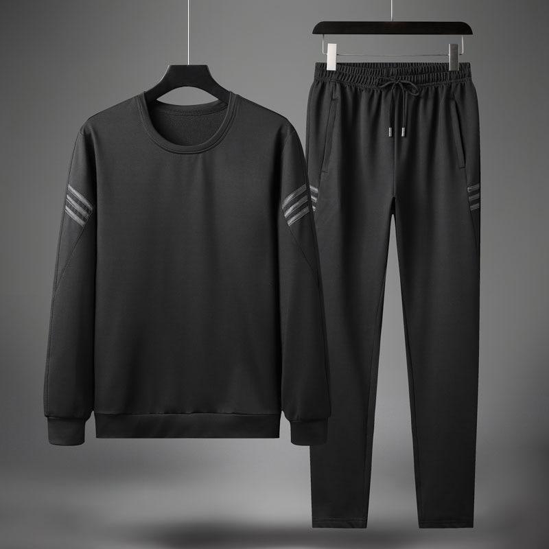Ropa Deportiva de otoño para hombre, conjuntos de moda informales para hombre, chándal para trotar de manga larga con cuello redondo, chándal para hombre completo marca