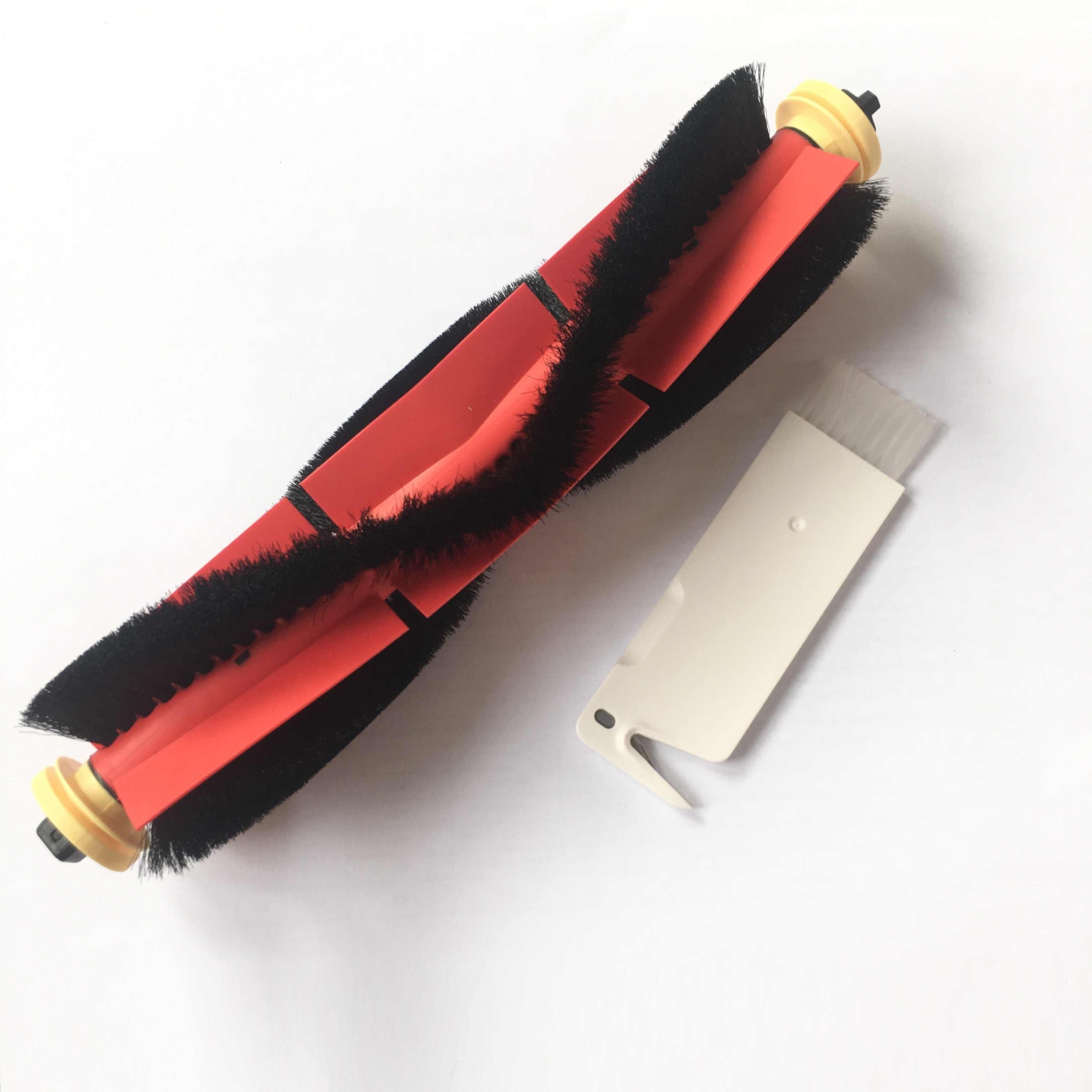 طقم فرش جانبي مطاطي من روبوروك للمكنسة الكهربائية روبوروك S60 S61 أبيض S65 قطع غيار ملحقات سوداء