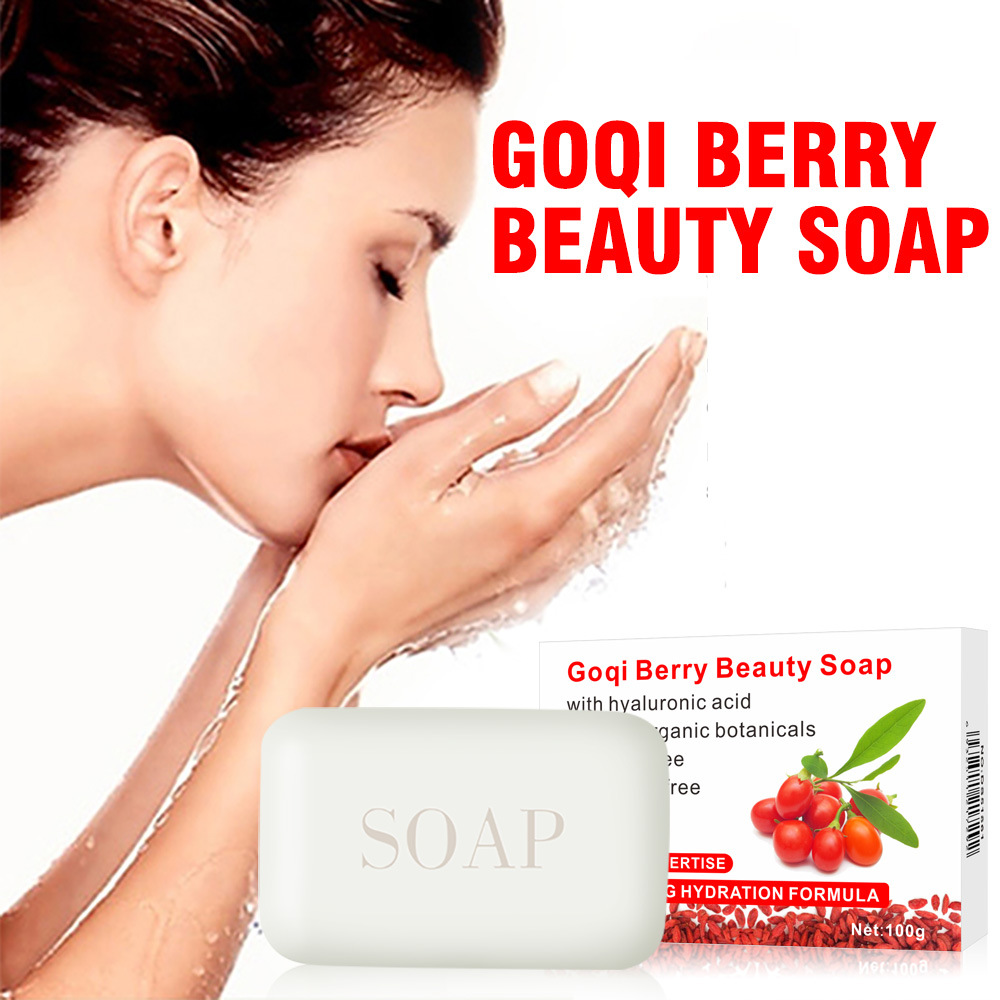 Goqi Berry Blackhead Remover Handmade Acne Treatment Soap Skin Whitening Soap Face & body Wash Skin Care Facial Cleaning