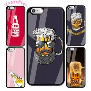 Fun beer art painting Phone Case For iphone 12 pro max case 11 Pro MAX X XR XS SE 2020 6S 7 8 Plus Acrylic Plexiglass TPU