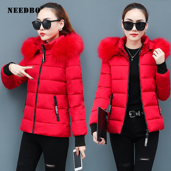 Winter Jacket Women Coat Fur Collar Parka Mujer Ladies Puffer Elegant Casaco Loose Clothing Warm Outwear