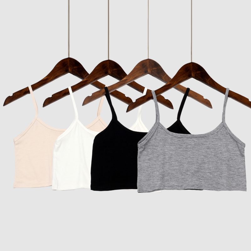 Women Tank Crop Top Seamless Underwear Female Crop Tops Sexy Lingerie Intimates No Chest Pad Solid Color Camisole Femme Fashion