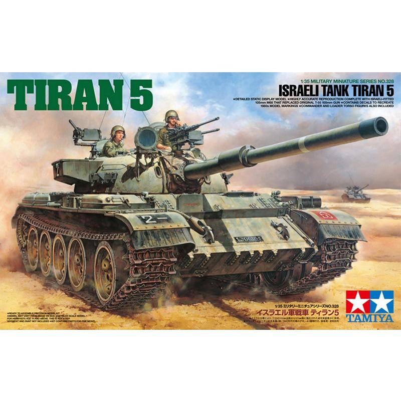 Tamiya 35328 1/35 scale Israeli Tank Tiran 5 MBT Main Battle Tank Display Collectible Toy Plastic Assembly Building Model Kit