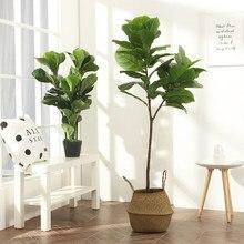Grand arbre Tropical de 122cm, plantes artificielles de Ficus Branches en plastique, fausses feuilles, Banyan vert pour la maison, le jardin, la salle, la boutique