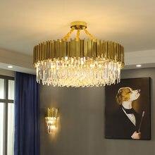 2020 moderno lustre de cristal ouro iluminação led lâmpada sala estar quarto decoração lustres cozinha ilha interior luminárias