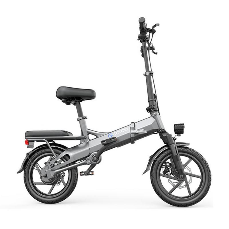 14 Inch Folding E Scooter Two Wheels Electric Bicycles 400W 36V Mini Portable Electric Bikes Adults With Hydraulic Damping