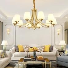 Full copper Chandelier European-style copper chandelier living room chandelier lighting bedroom restaurant retro chandelier