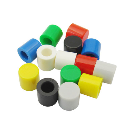 100Pcs Sample Colorful Switch Caps For 6*6mm Tactile Tack Momentary Switch Red Green Blue Yellow White Black Gray
