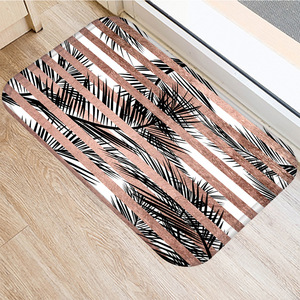 Image 5 - 40*60センチメートルブラウンストライプノンスリップスエードカーペットドアマット屋外キッチンリビングルームのフロアマットホームベッドルーム装飾フロアマット。