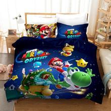 Super Mario Bros. Bedding Set kid Cute Cartoon Duvet Cover Set Bed Set Bed Linens Twin Full Queen King for Children's room