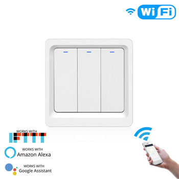 WiFi Smart Light Switch Push Button Smart Life/Tuya APP Remote Control Works with Alexa Google Home for Voice Control 9