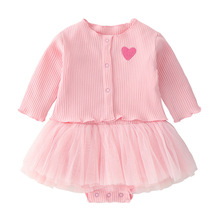 Emotion Moms Baby Girls Dresses With Coat 2pcs Clothes Sets Kids rompers For