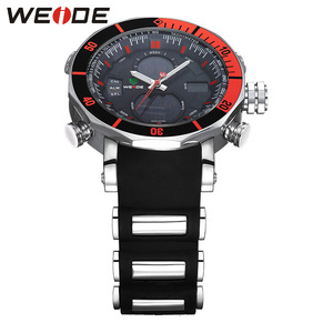 Image 2 - WEIDE Men Watch Chronograph Stopwatch Repeater Automatic Date Alarm Analog Quartz Digital Relogio Masculino Watch Mens Watches