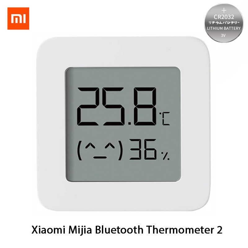 XIAOMI Mijia Bluetooth Thermometer 2 Wireless Smart Electric Digital Hygrometer Thermometer Work with Battery Xiaomi Smart Home