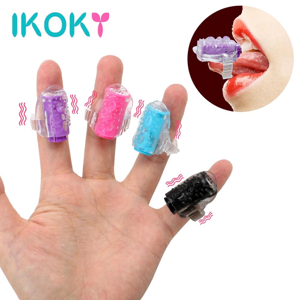 IKOKY Mini Finger Vibrators Oral Licking G-spot Vibrator Vagina Clitoris Stimulator Masturbation Erotic Sex Toys For Women