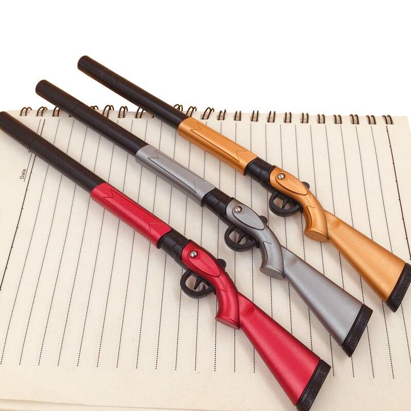 1Pcs Creative Pen 0.38mm Black Ink Canetas Office Student Gift Writing Pens Toy Gun Shape Gel Pen Stationery Papelaria