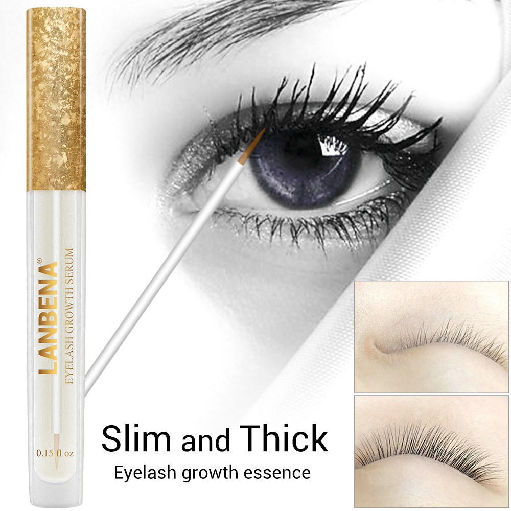 LANBENA Eyelash Growth Serum Curl Eyelash Enhancer Longer Fuller Thicker Lashes Eye Care Charming Big Eyes Beauty For 7 Days