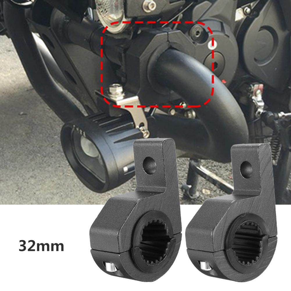2PCS Universal Motorcycle LED Work Light Installation Bracket With Rubber Insert Motorcycle Bracket Alloy Mounting Bracket Clamp