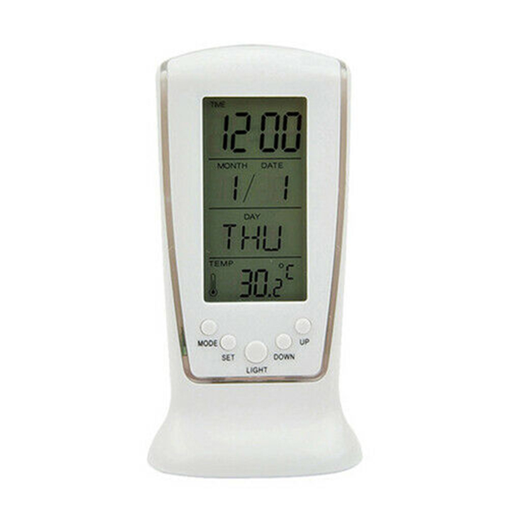 LED Digital Table Alarm Snooze Clock Night Light Thermometer Displayer