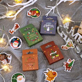 50pcs Christmas Greeting Series Stickers Reindeer Decorative Scrapbooking DIY Diary Album Stick Label Stationery lazy cat meow decorative stationery stickers scrapbooking diy diary album stick label