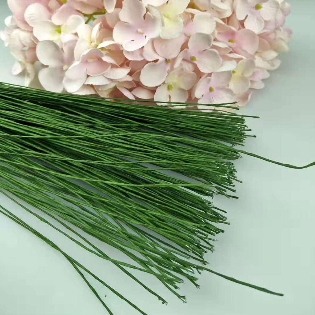 Paper Covered Iron Wire Flower Twigs Bouquet Accessories Artificial Branches