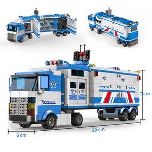 Image 5 - 1122 pcs SWAT עיר משטרת סדרת אבני בניין רכב מסוק עיר משטרת Staction DIY לבנים תואם עם LegoED בלוק משחק תפקידים דמויות פעולה צעצועים לילדים