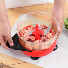 Hand Food Chopper Manual Vegetable Quick Processor for Fruits Vegetables Meats Nuts Herbs Onions Salad Mincer with Blades Shred