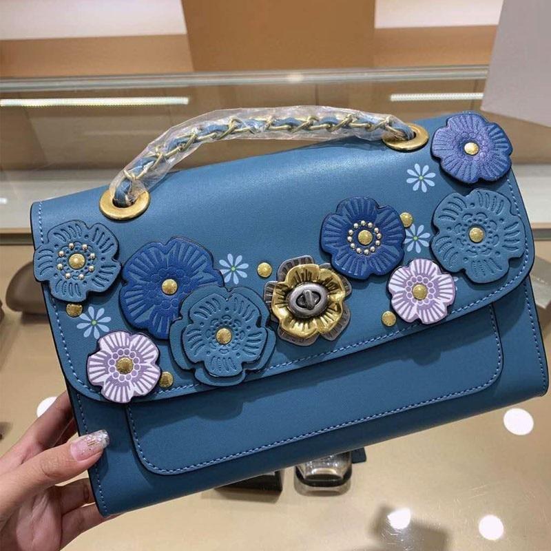 Designer feminino colorido flor bolsa elegante senhoras
