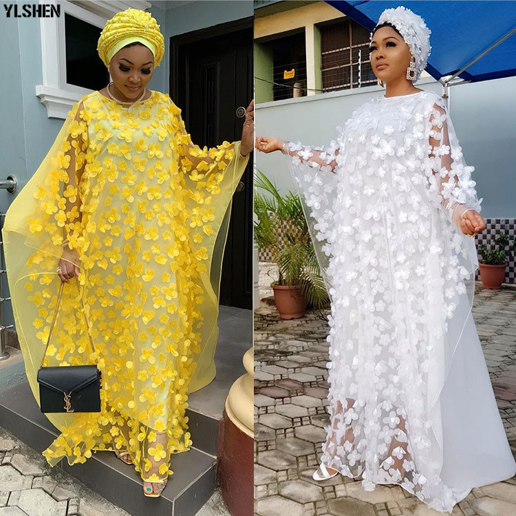 Length 150cm African Dresses For Women 2019 Africa Clothing Abaya Muslim Long Dress High Quality Fashion African Dress For Lady