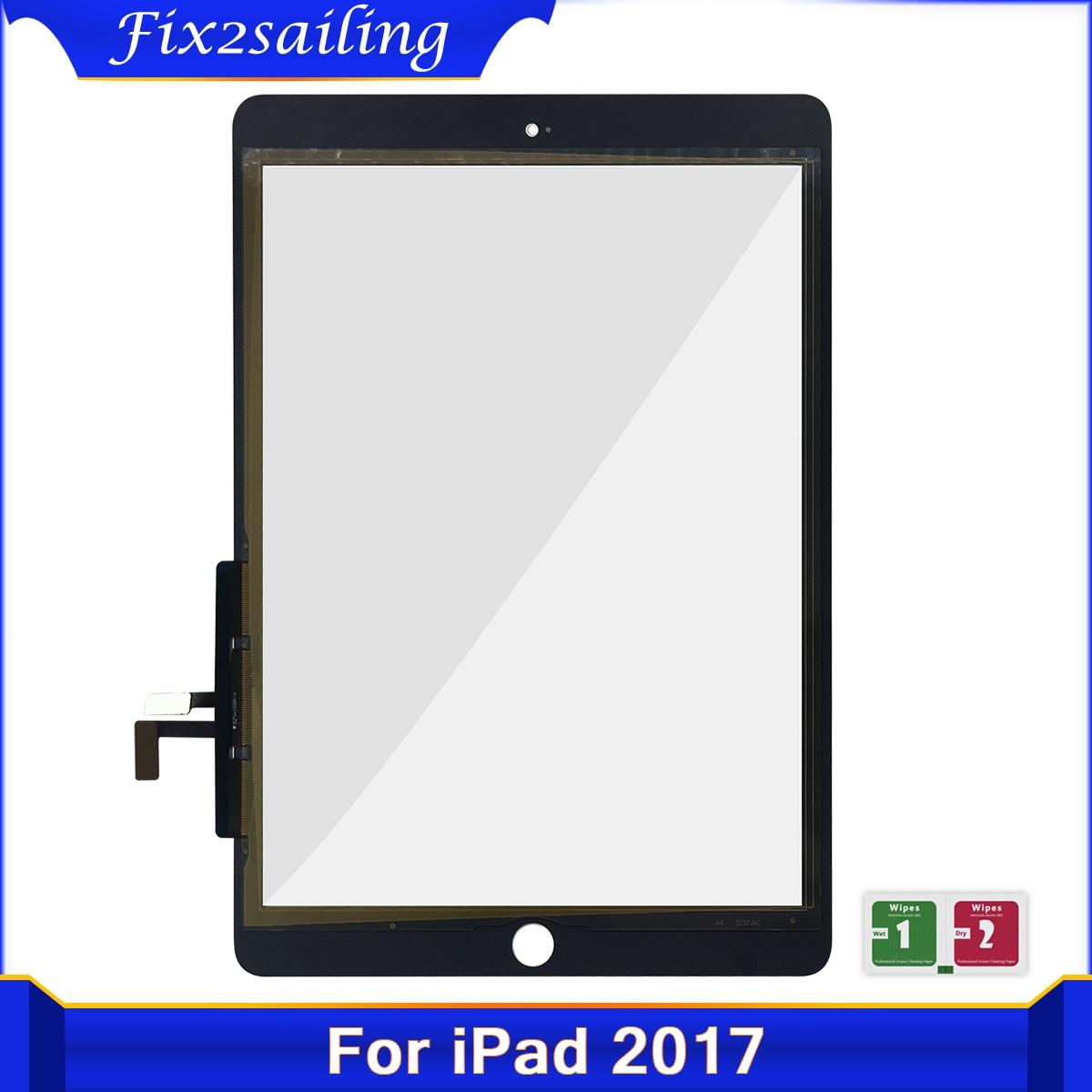 Сенсорный экран для iPad 2017, дигитайзер для iPad 5, iPad 9,7, 2017, A1822, A1823, стеклянная сенсорная панель, Сменный датчик 9,7 дюйма
