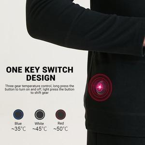 Image 4 - Winter Heated Underwear Suit Smart Phone APP Control Temperature USB Battery Powered  Fleece Thermal Motorcycle Jacket Moto Men