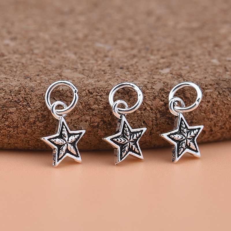DIY สร้อยข้อมือเครื่องประดับสร้อยข้อมือ 925 เงินไทย MINI Pentagram จี้ LITTLE STAR จี้อุปกรณ์เสริม