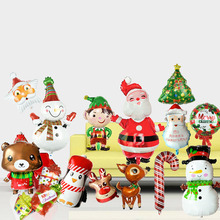 1pcs Merry Christmas Decoration Cartoon Aluminum Balloons Santa Tree Snowman Party Balloon Ornament Supplies