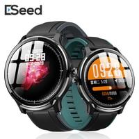 Tüketici Elektroniği'ten Akıllı Saatler'de ESEED SN80 akıllı saat erkekler IP68 su geçirmez 60 gün uzun bekleme 1.3 inç tam dokunmatik ekran alaşım durumda kalp hızı smartwatch