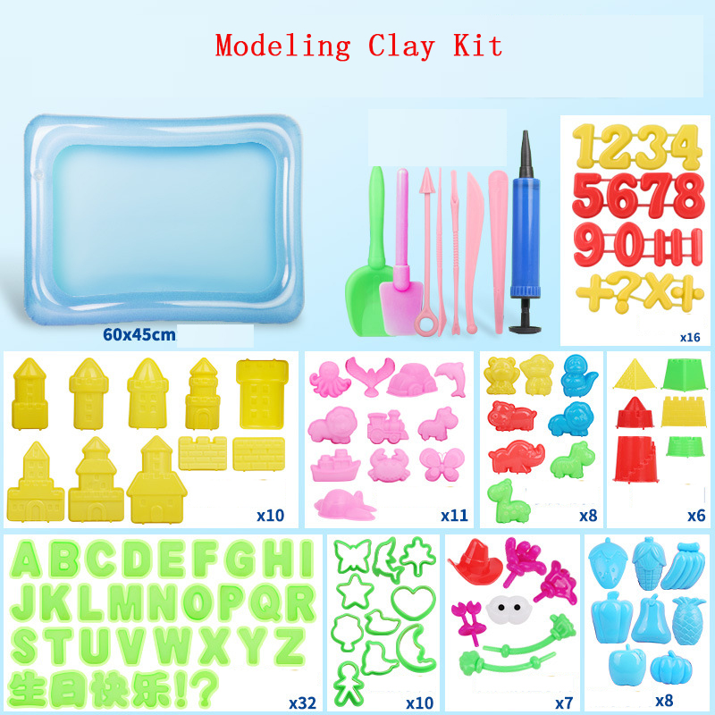 DIY Slime Supplies Plasticine Mold Modeling Clay Kit Sand Slime Fluffy Play Dough Tools Set Cutters Moulds Toy For Children Gift