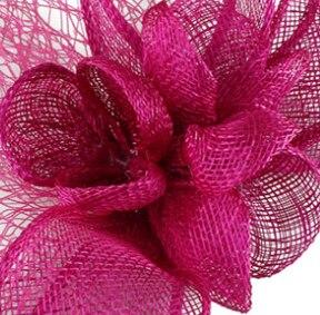 Желтая Свадебная расческа для волос sinamay, аксессуары для волос, Популярные головные уборы для женщин, вечерние головные уборы - Цвет: magenta