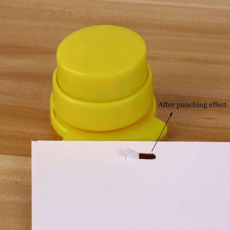 Cute Mini Environmental Press Stapleless Staple Free Stapler Paper Binding Binder Home Office Students Office Binding Stationery