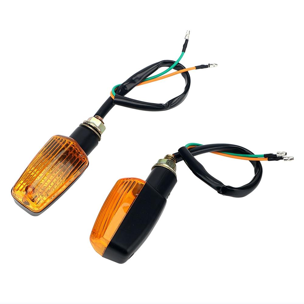 LEEPEE DC 12V LED Turn Signal Lamp 1 Pair Motorcycle Flasher Motorbike Indicator Light Amber Blinker Bulb Universal