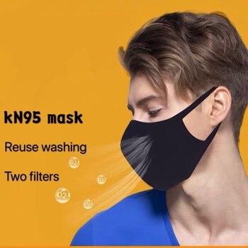 KN95 mask reused Virus masK N95 filter Anti washing work running flu virus Dust washing Fog KN95 Mask Gas Bacteria PM2.5 mask
