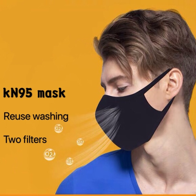 KN95 mask reused Virus masK N95 filter Anti washing work running flu virus Dust washing Fog KN95 Mask Gas Bacteria PM2.5 mask