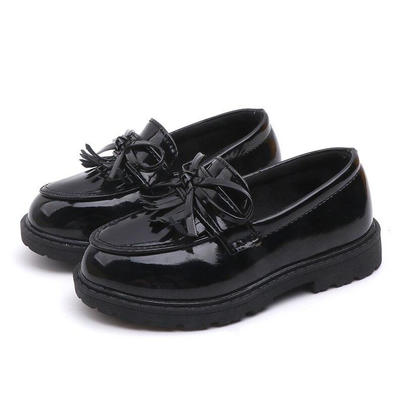 MXHY2019 春、夏と秋の新子供の靴生徒の成績レトロ少女漆靴子供の靴
