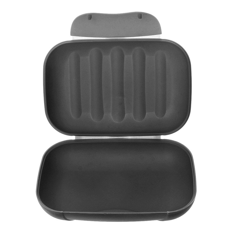 Soap Box In Abs Case Waterproof Portable Cases For Travel-Black