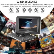13.9 polegada dvd player 110-240v hd tv portátil 270 graus de rotação 800*480 resolução 16:9 tela lcd para a ue plug dvd players 2018