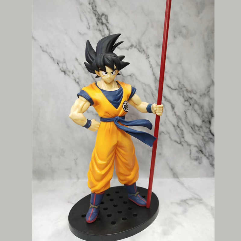Dragon Ball Z 20th Anniversary Preto cabelo varinha De Dragon Ball Super Saiyan Goku Son Goku Anime Action Figure Modelo Boneca brinquedo